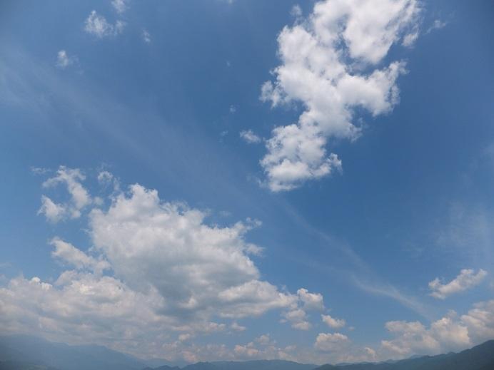勝沼の青空