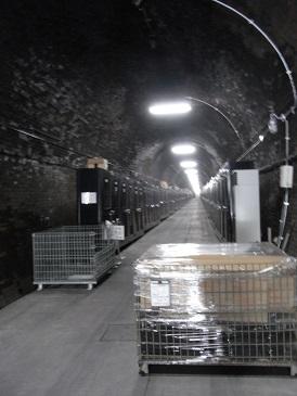 トンネルカーブ内