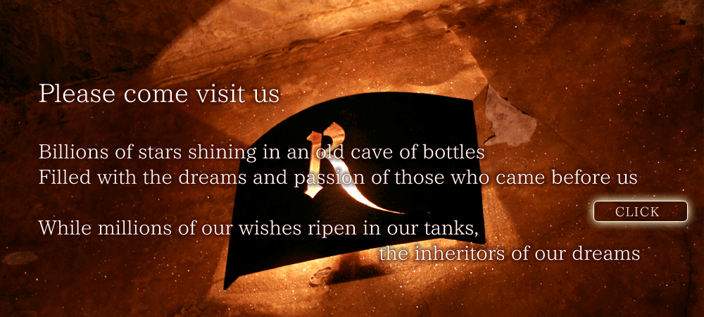 Winery Tour...Please come visit us. Billions of stars shining in an old cave of bottles. Filled with the dreams and passion of those who came before us. While millions of our wishes ripen in our tanks, the inheritors of our dreams.